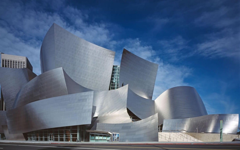 El museo Guggenheim en Bilbao, España, del arquitecto Frank Gehry.