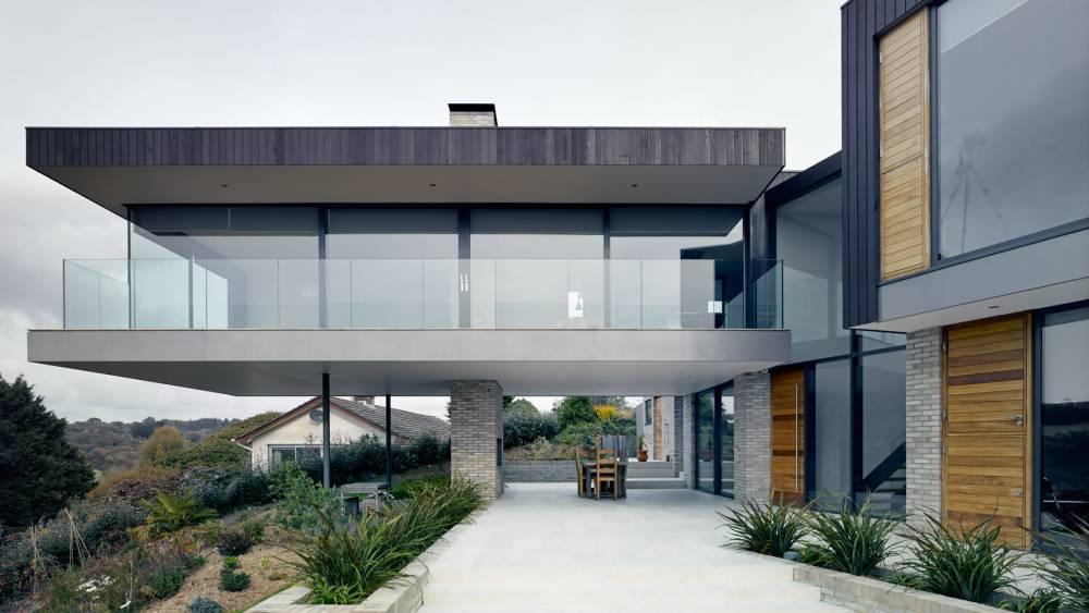 Terraza de arquitectura moderna minimalista.