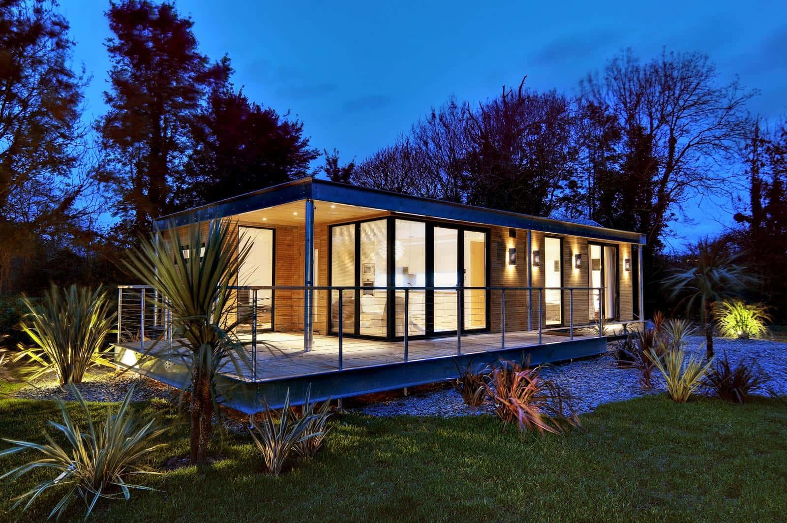 Hermosa casa de arquitectura moderna.