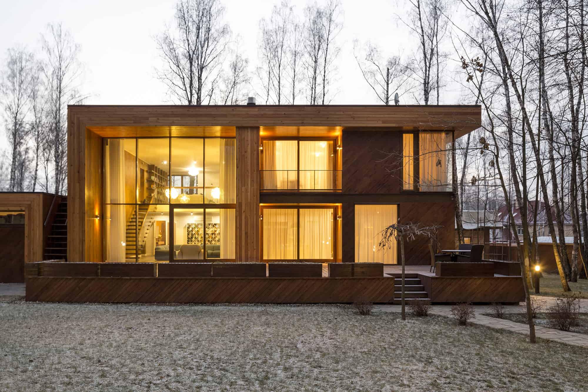 Acabados en fachadas modernas
