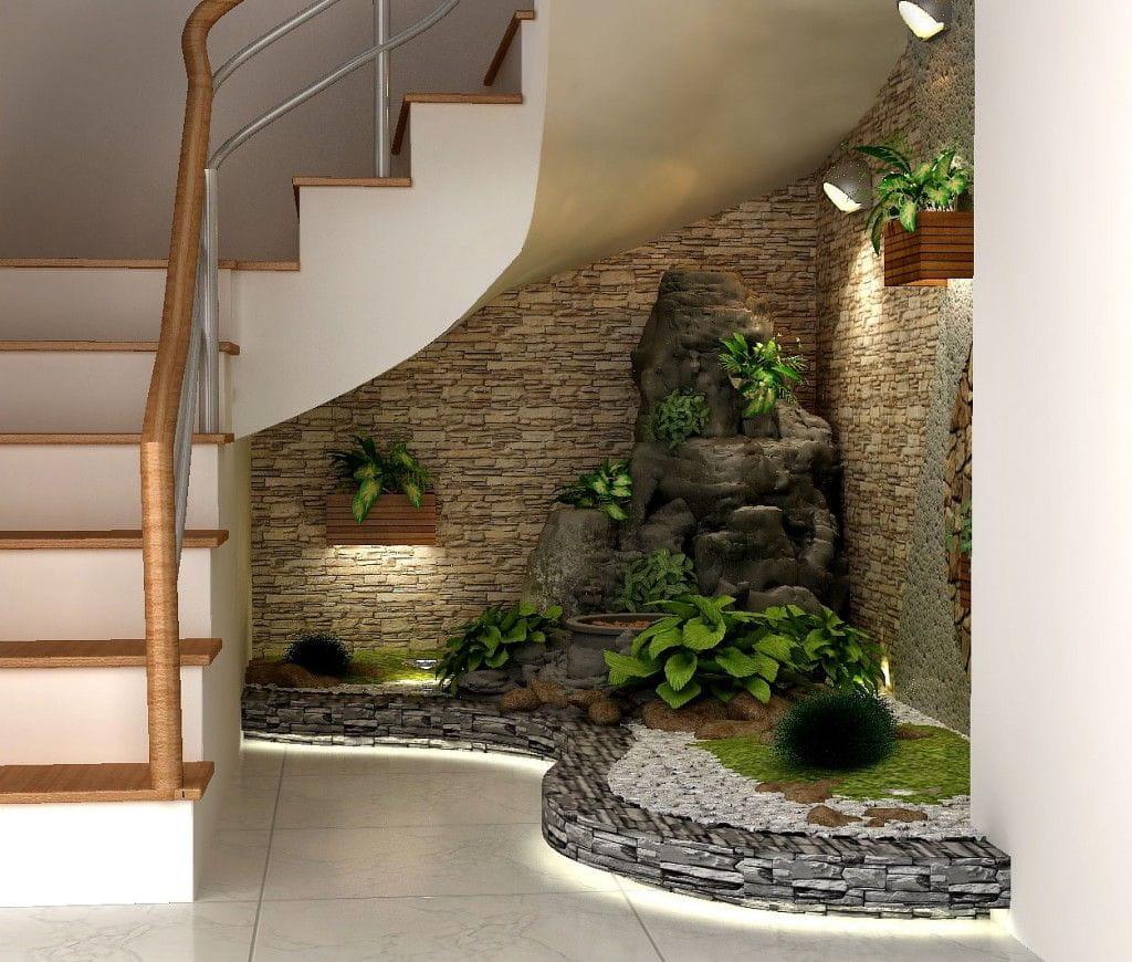 Diseño de jardines interiores pequeños para casas.