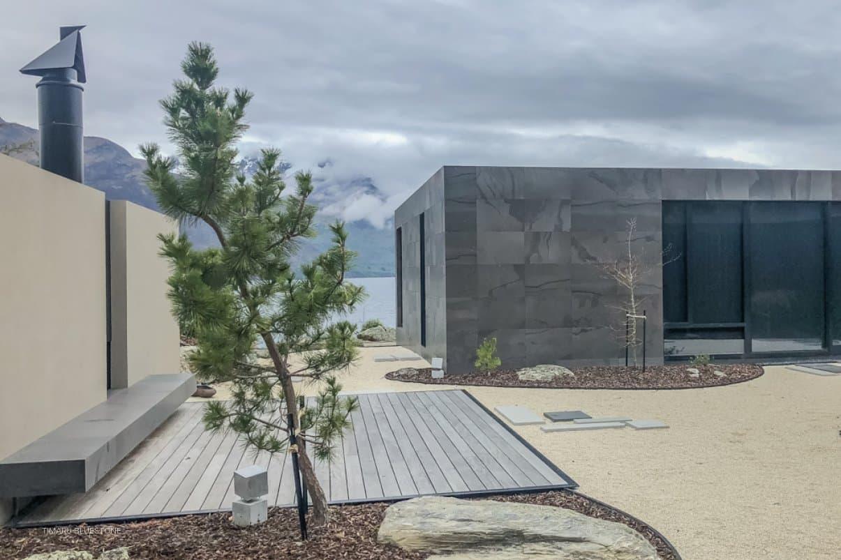 Casas de piedra modernas.