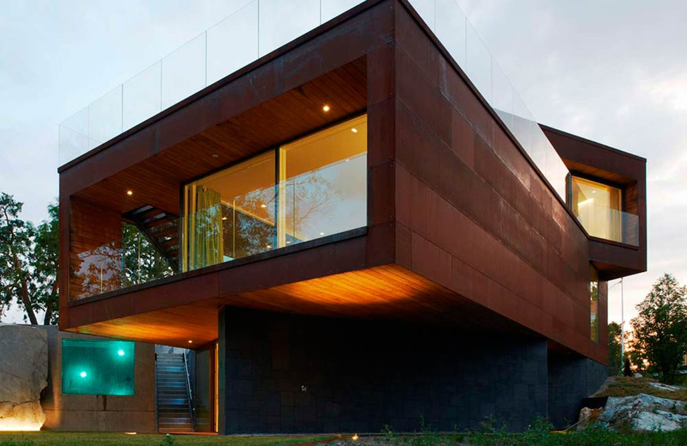 Revestimiento de fachadas con acero.