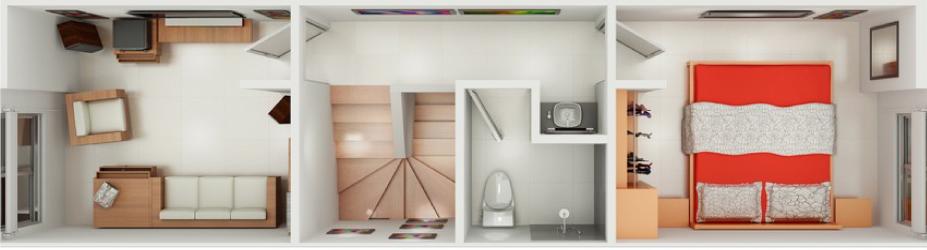 Diseño arquitectónico de casa pequeña.