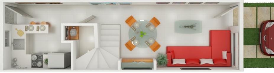 Proyecto arquitectónico de una casa pequeña