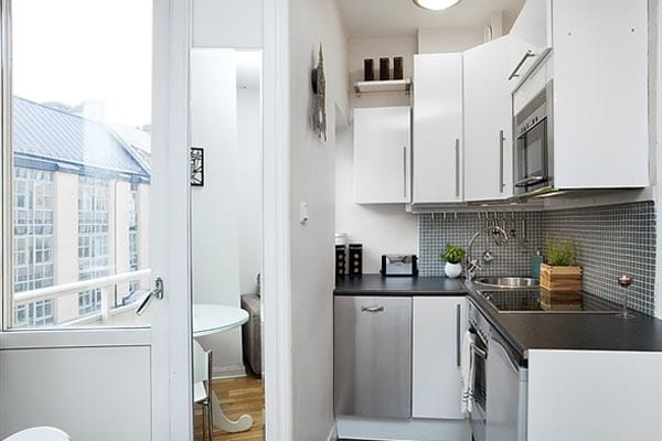 Distribución de cocina para casas pequeñas.