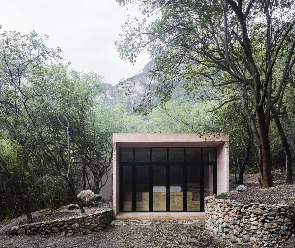 Fachadas de cristal en casas modernas.