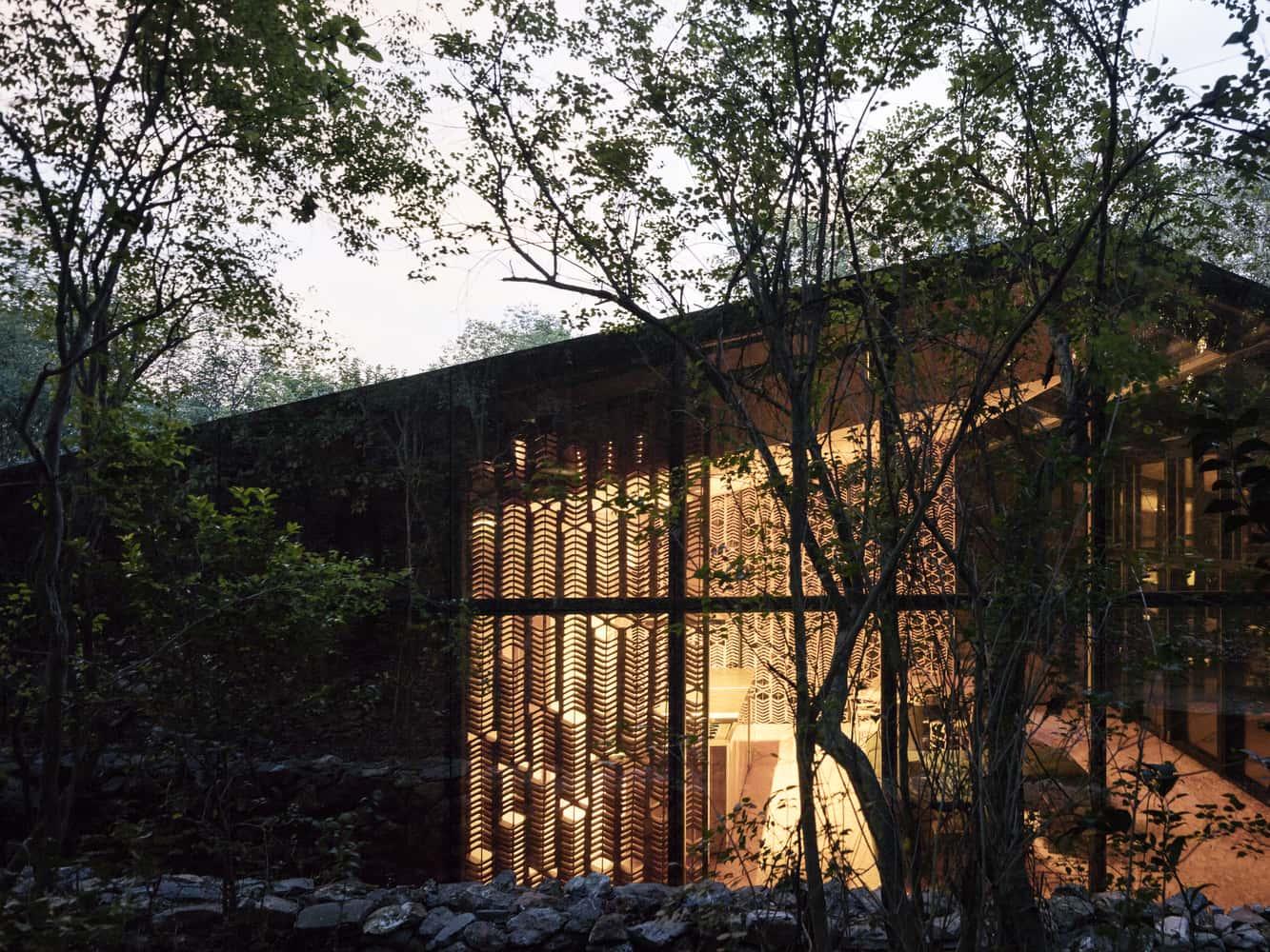 Fachada de casas modernas.