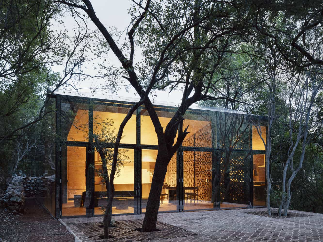 Fachadas de viviendas minimalistas.