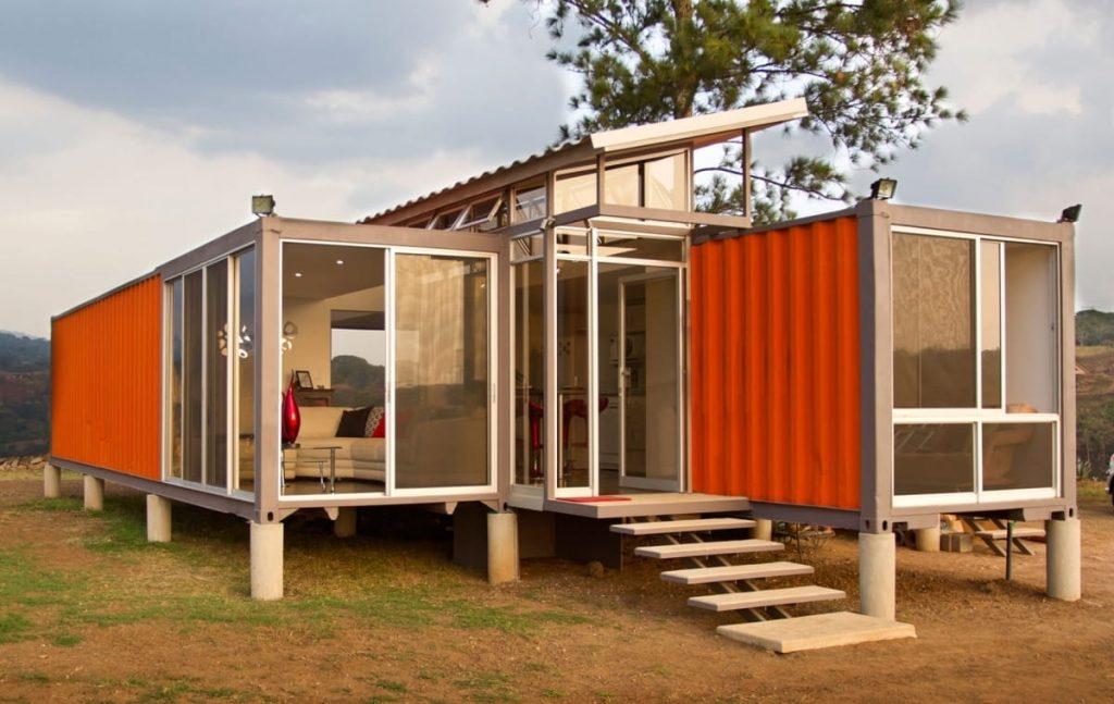 La casa contenedor puede construirse sobre zapatas aisladas.