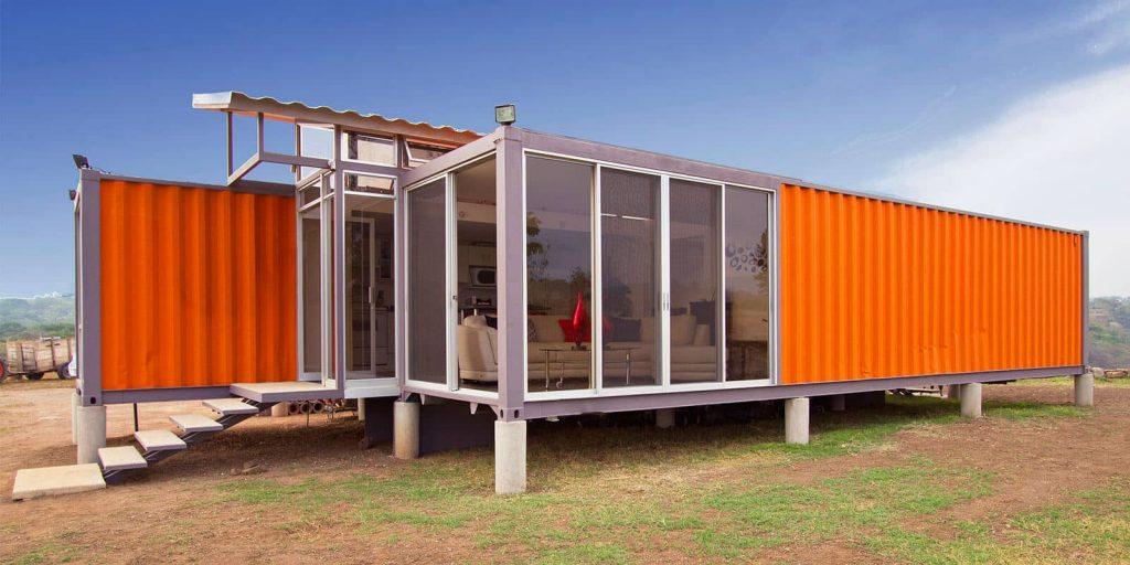 Los contenedores para vivienda pueden ser un solución genial de reciclaje.