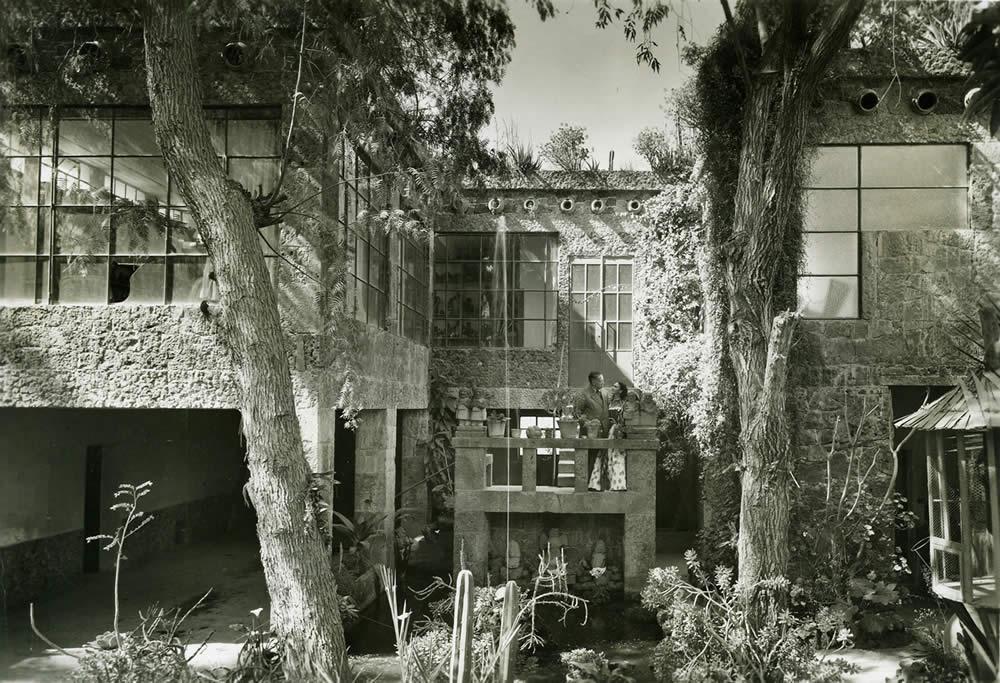 Diego y Frida en la Casa Azul de Coyoacán.