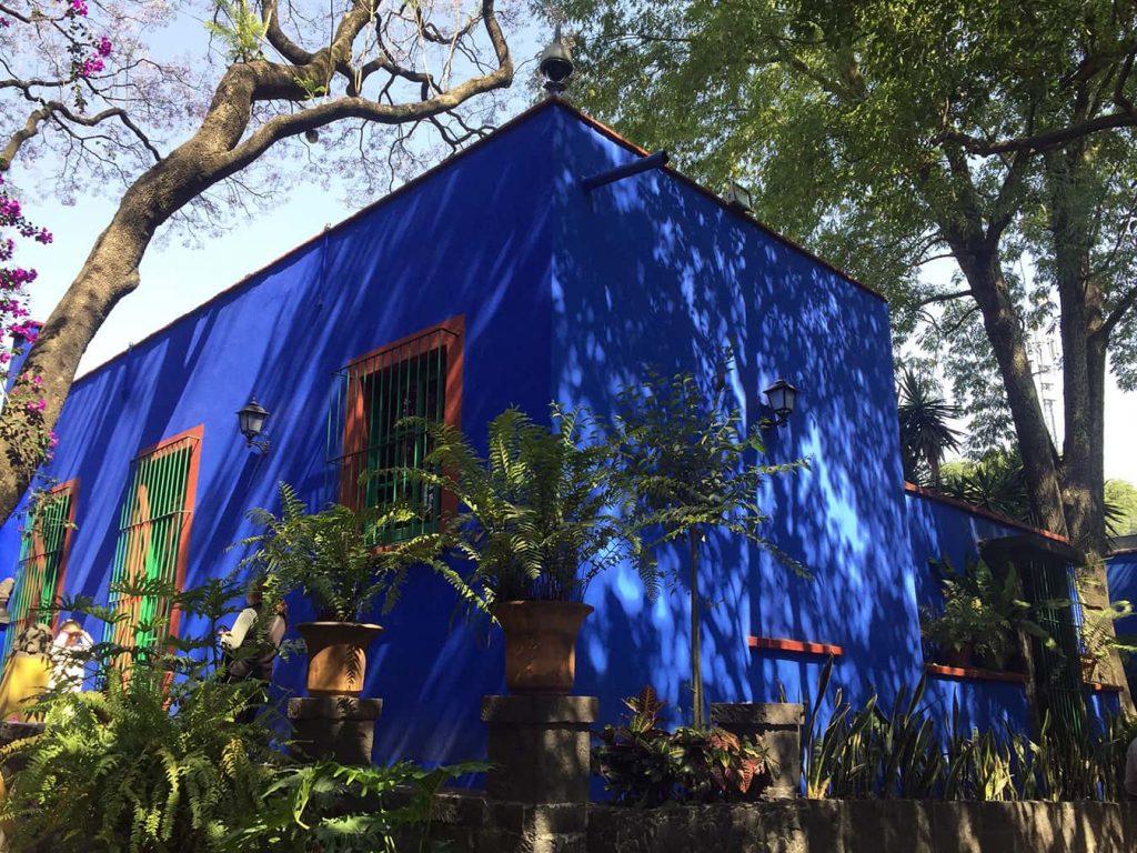Jardín de la Casa Azul de Frida Kahlo.