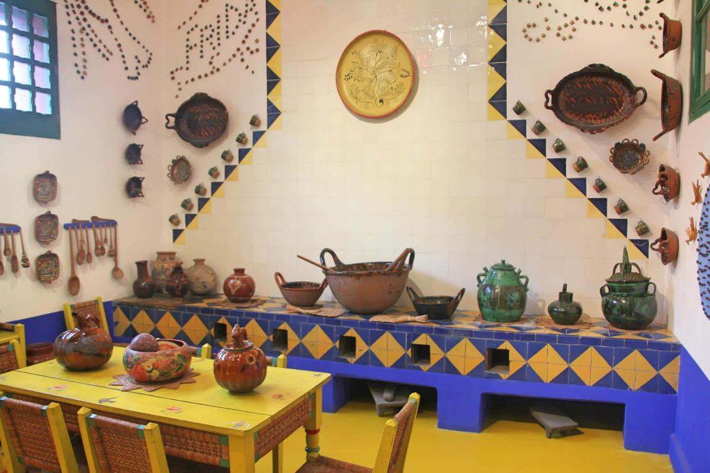 La cocina de la Casa Azul.