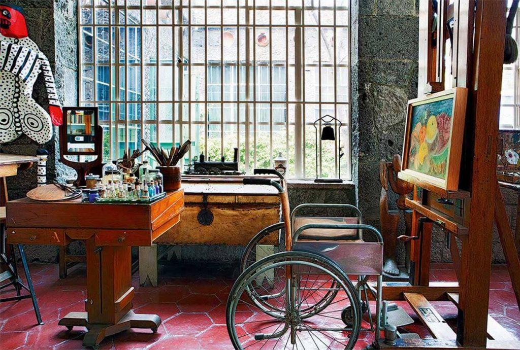 Estudio de Frida Kahlo en la Casa Azul.