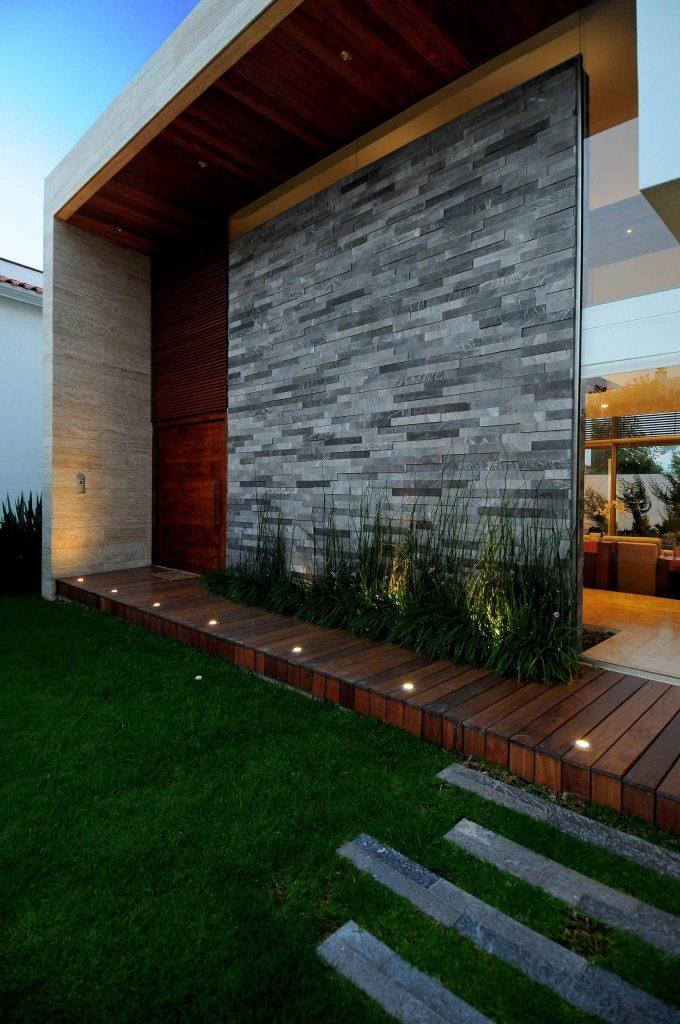 Piedras para fachadas de casas modernas.