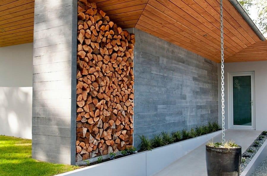 La piedra en fachadas se puede combinar perfectamente con madera o acero.